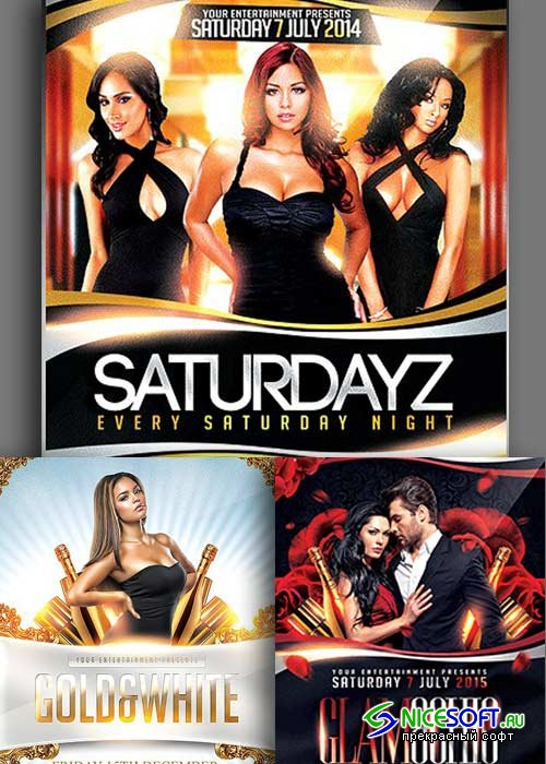 Sexy Night Party 3in1 V2 Flyer Template