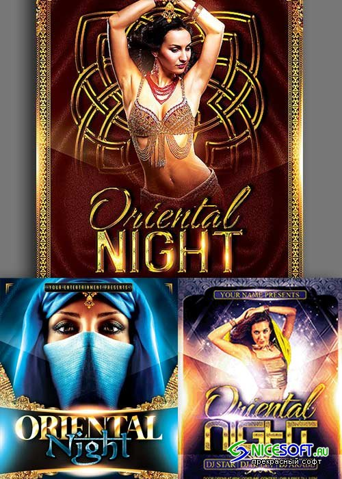 Oriental Night 3in1 V1 Flyer Template