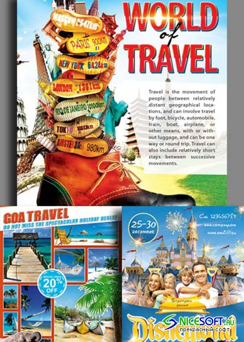 Travel Flyer 3in1 V1 Flyer Template