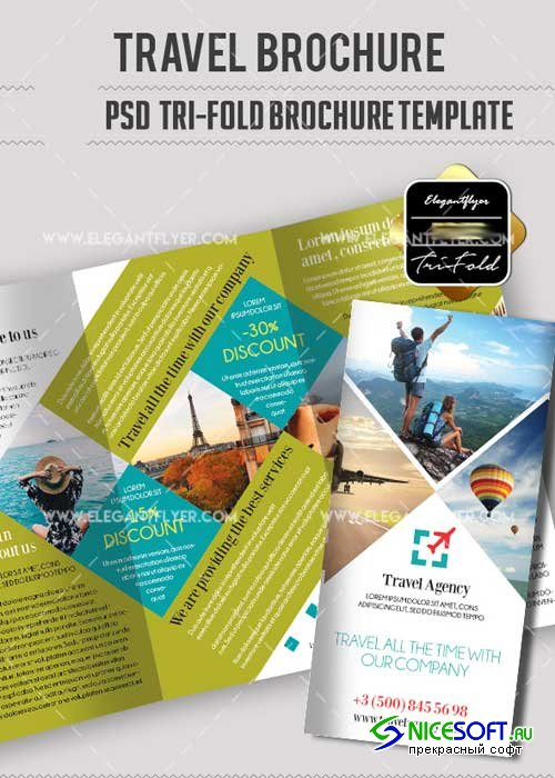 Travel V18 PSD Tri-Fold PSD Brochure Template