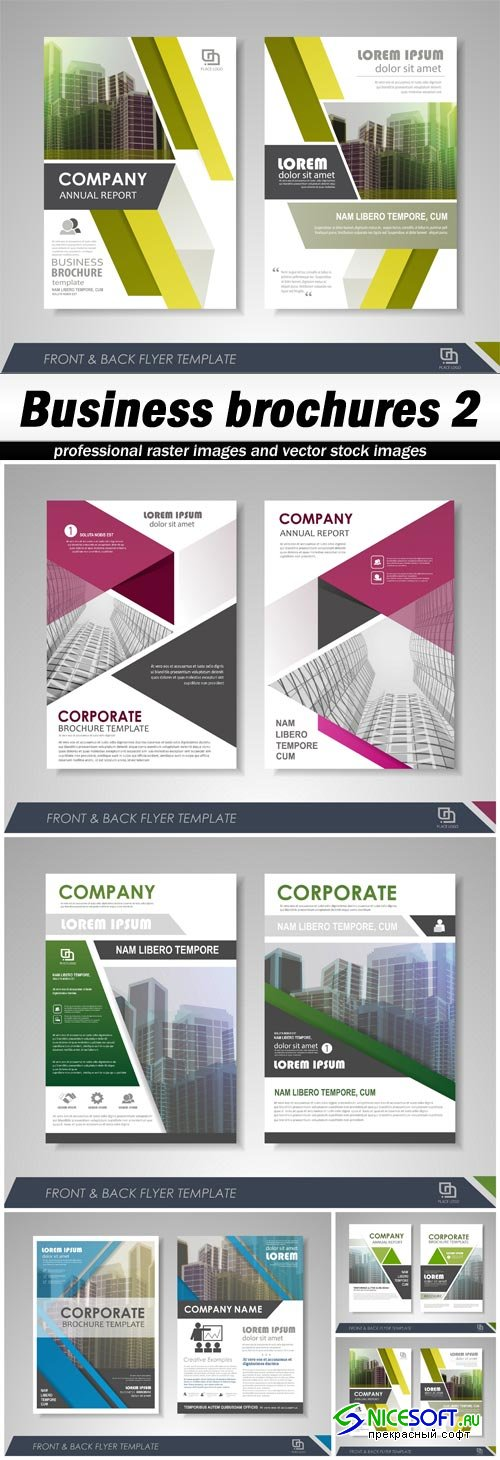 Business brochures 2 - 5 EPS