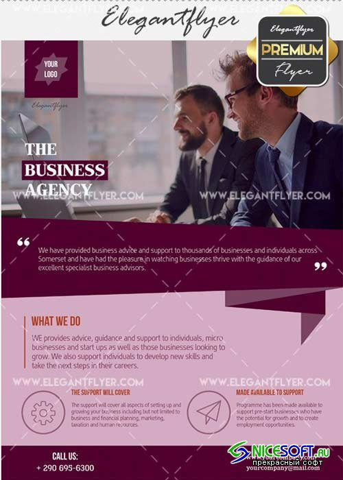 The Business Agency V30 Flyer PSD Template + Facebook Cover