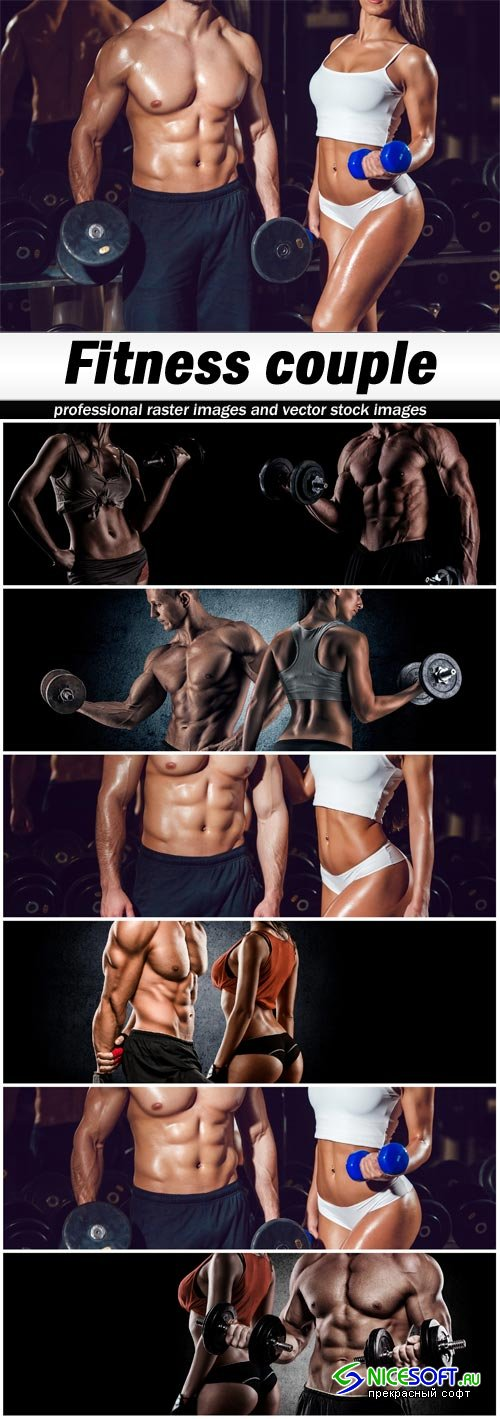 Fitness couple - 6 UHQ JPEG