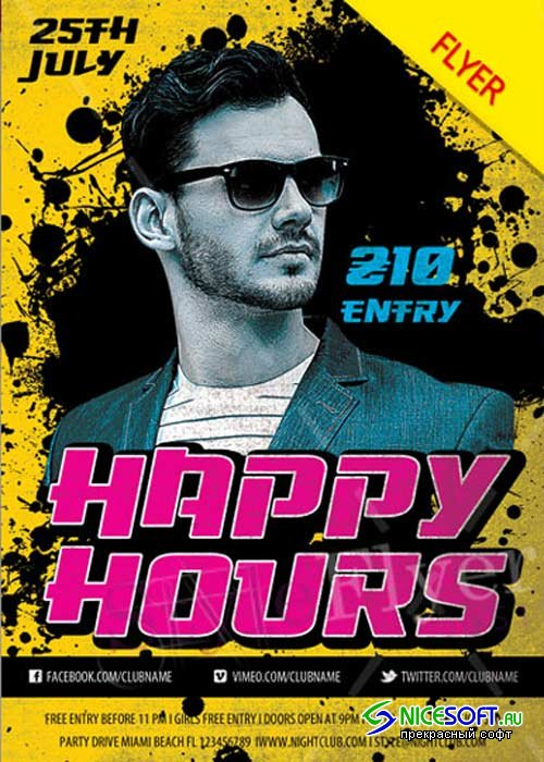 Happy Hours V31 Flyer PSD Template