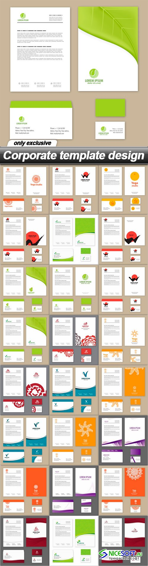Corporate template design
