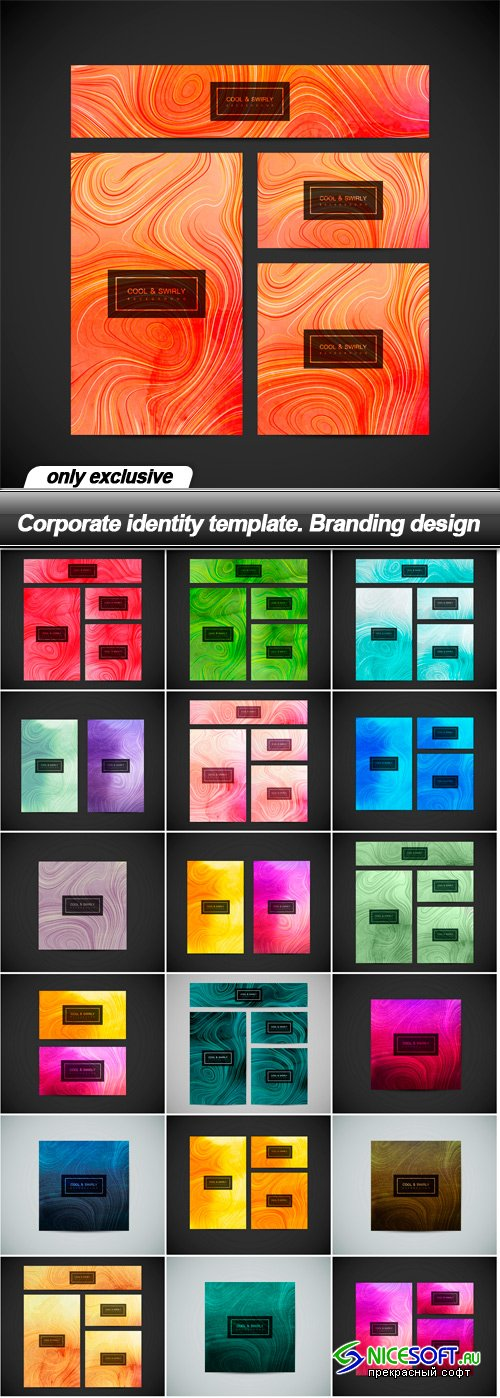 Corporate identity template. Branding design
