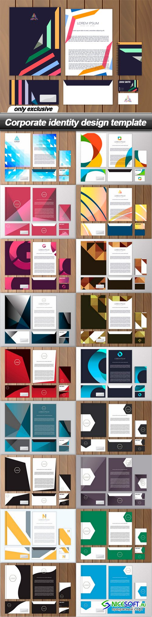 Corporate identity design template