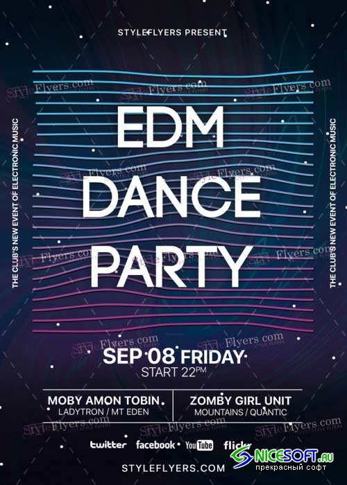 EDM Dance Party V29 PSD Flyer Template