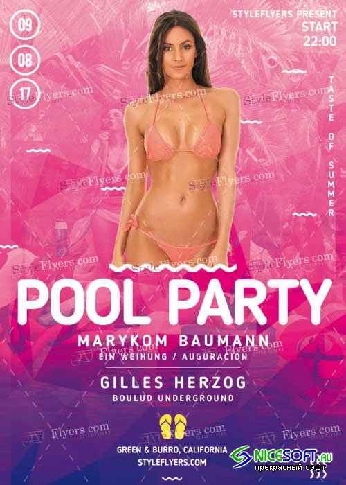 Pool Party V43 PSD Flyer Template