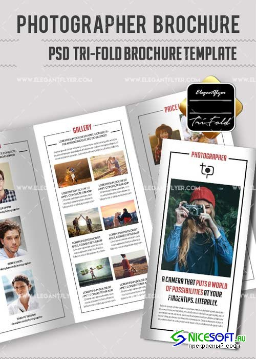 Photographer V29 PSD Tri-Fold PSD Brochure Template