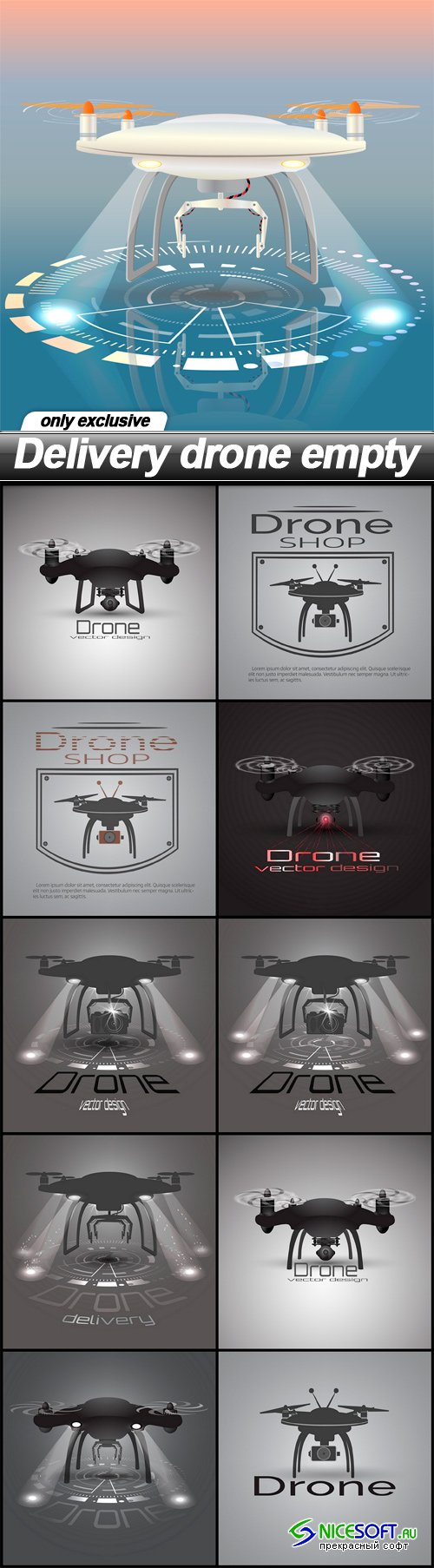 Delivery drone empty