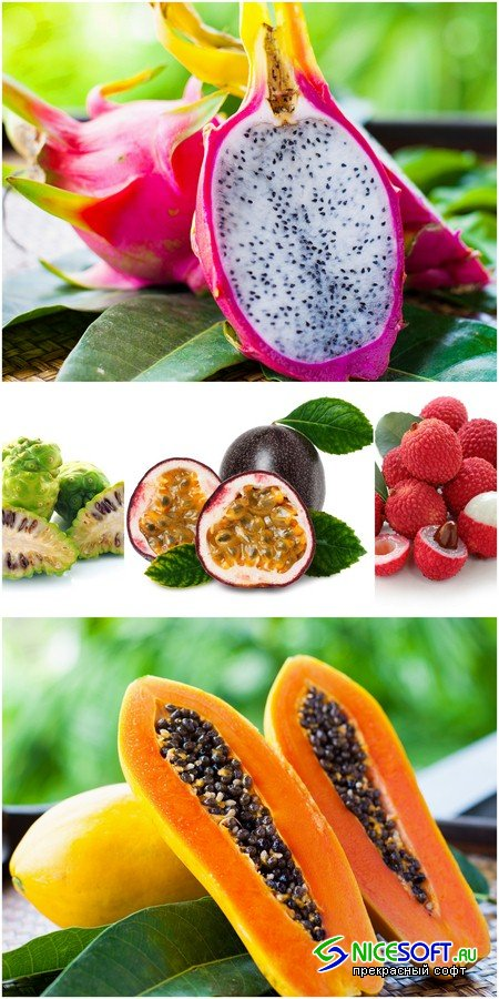 Exotic fruits - 5 UHQ JPEG