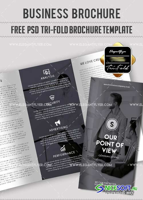 Business V47 PSD Tri-Fold PSD Brochure Template