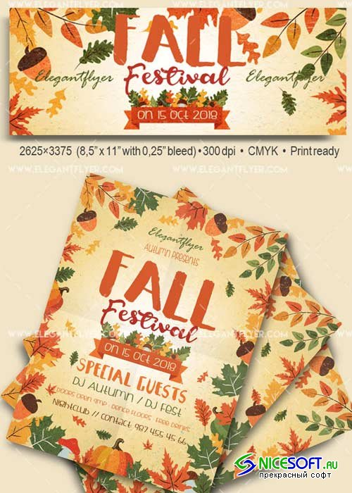 Fall Festival V33 Flyer PSD Template + Facebook Cover