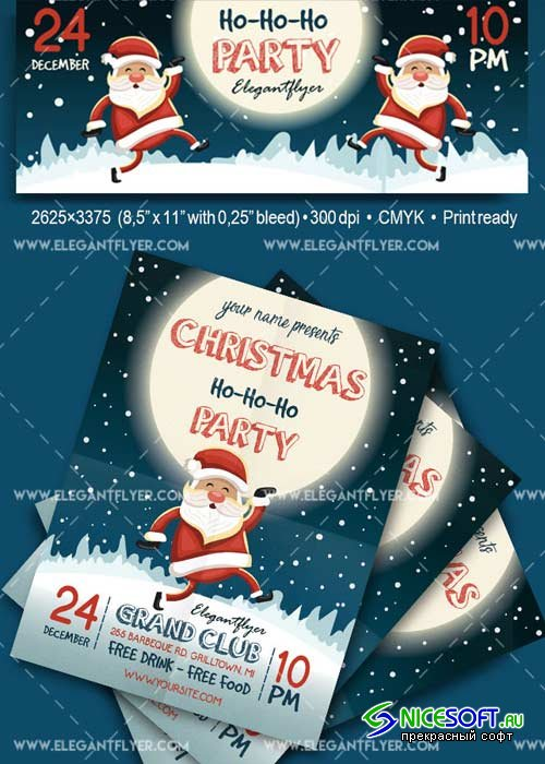 Christmas Flyers Template V1 2017 Flyer PSD Template + Facebook Cover