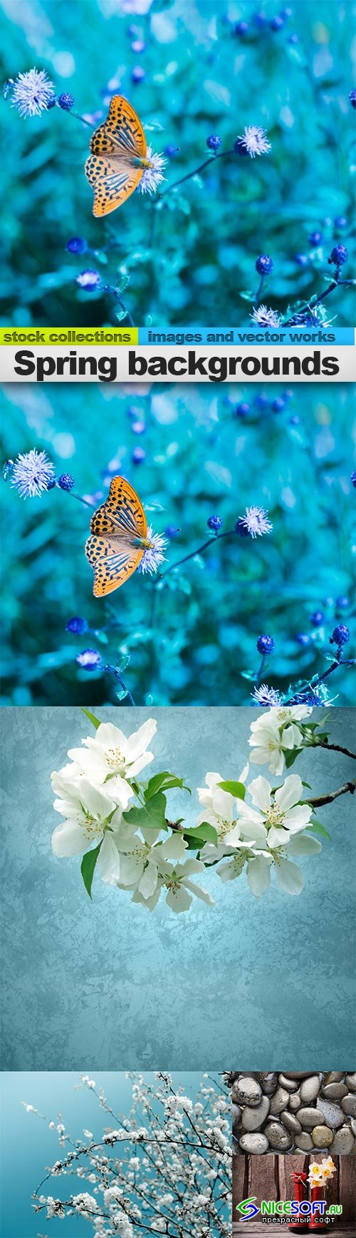Spring backgrounds, 05 x UHQ JPEG