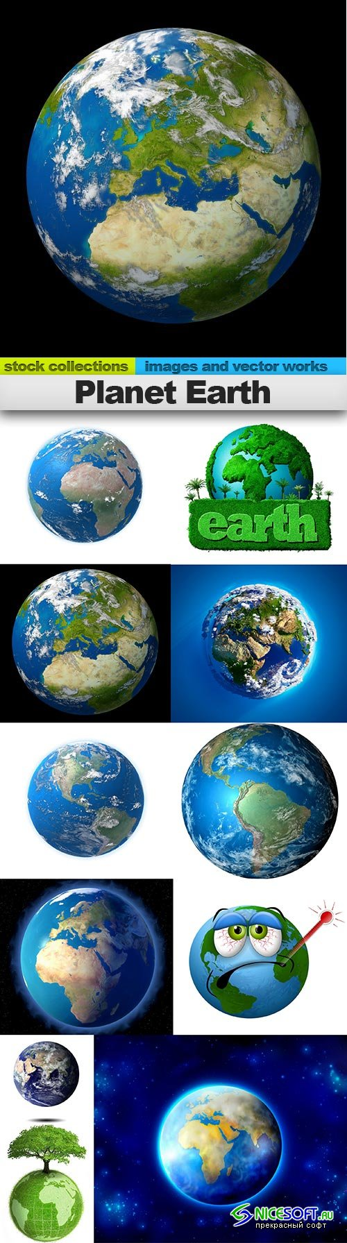 Planet Earth, 11 x UHQ JPEG