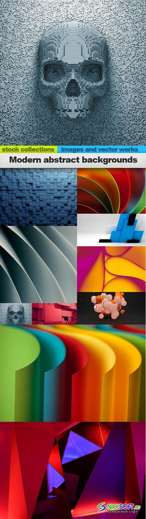 Modern abstract backgrounds, 10 x UHQ JPEG
