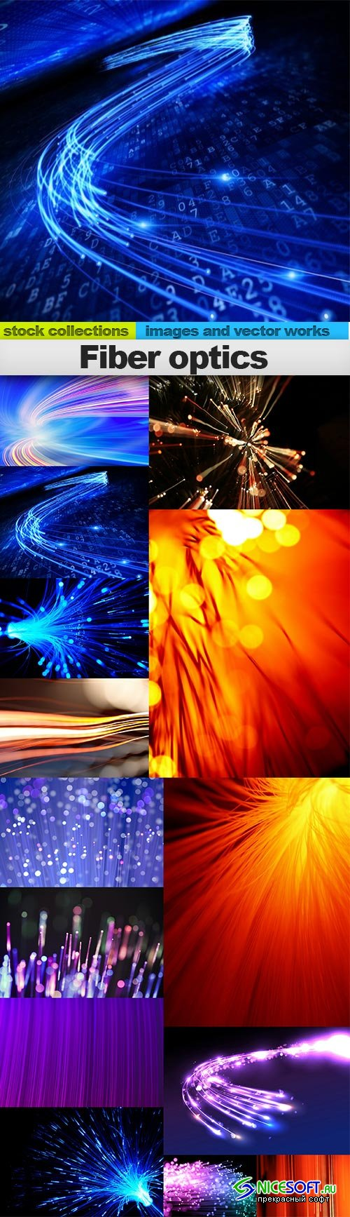 Fiber optics, 14 x UHQ JPEG