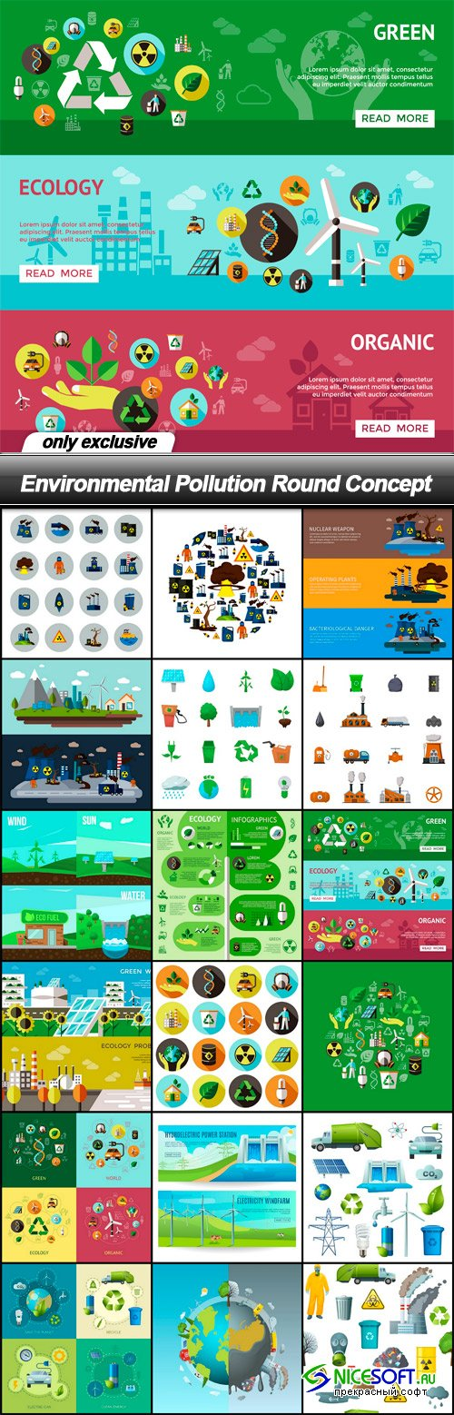Environmental Pollution Round Concept