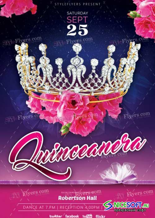 Quinceanera V4 PSD Flyer Template