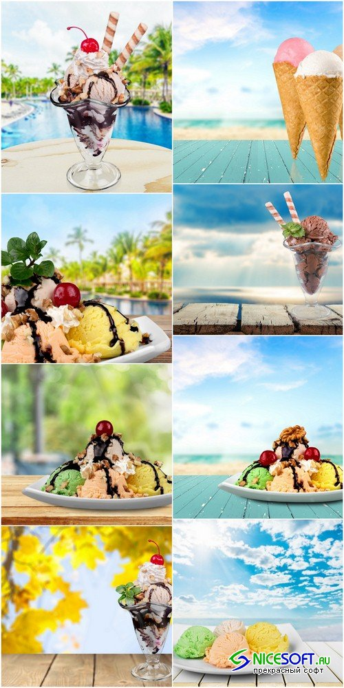 Backgrounds with ice cream - 8 UHQ JPEG