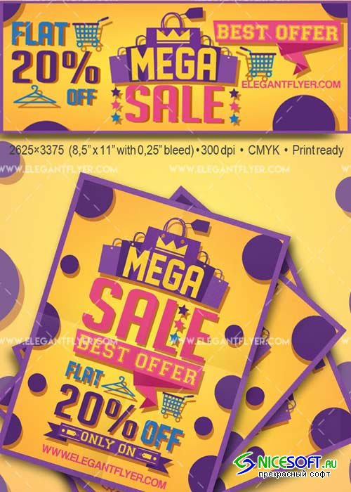 Sales Flyer Template V37 Flyer PSD Template + Facebook Cover