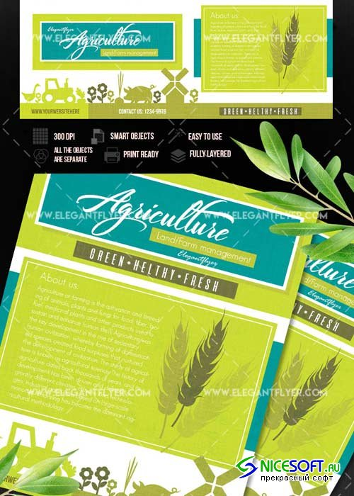 Agriculture and Farming V1 Flyer template