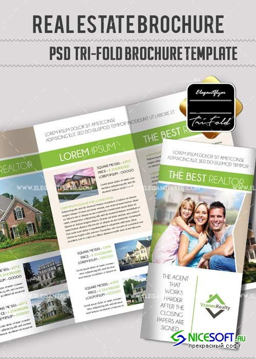 Real Estate Trifold V1 Brochure Template in PSD