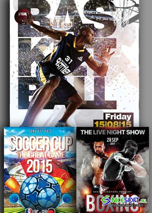 Sport 3in1 V4 Flyer Template