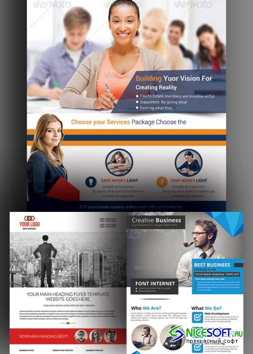 Corporate Flyer 3in1 V2 PSD Template