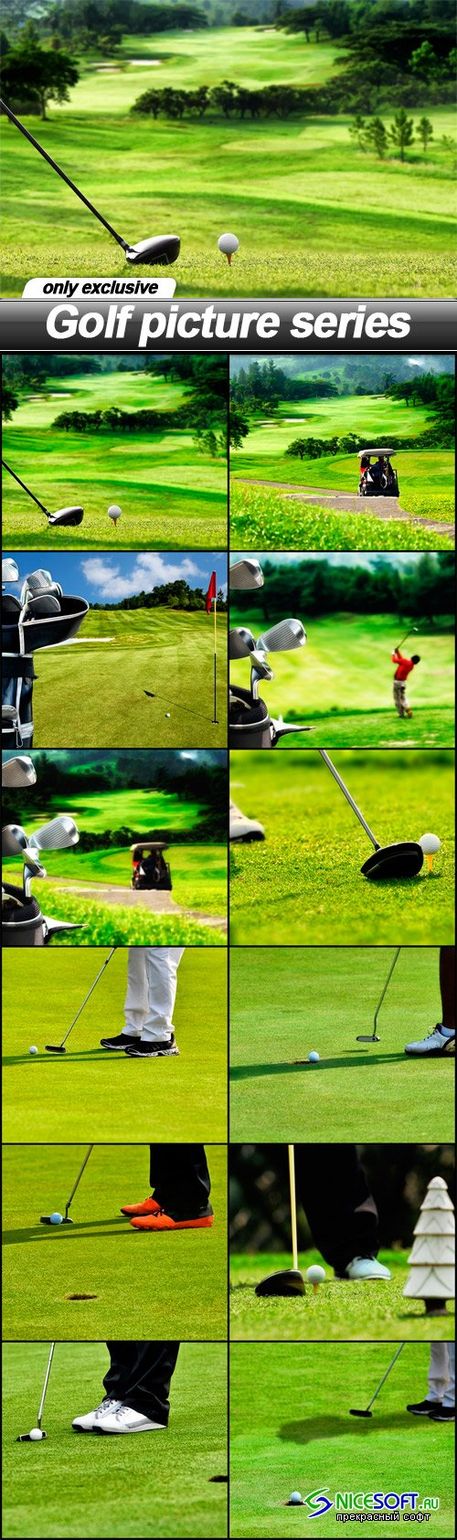 Golf picture series