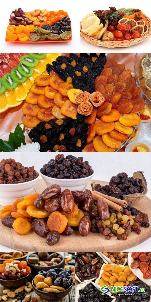 Dried fruits - 6 UHQ JPEG