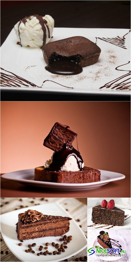 Chocolate dessert - 5 UHQ JPEG