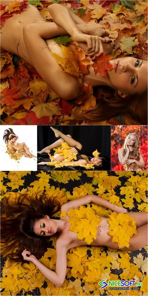 Girl on autumn background- 5 UHQ JPEG