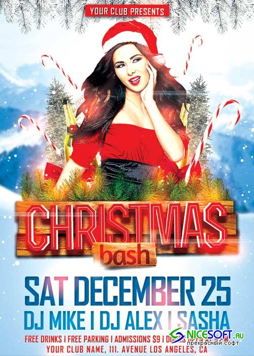 Christmas Bash V4 2017 Flyer Template