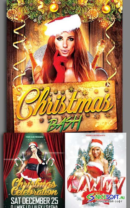 Christmas Flyer 3in1 V2 2017 Template