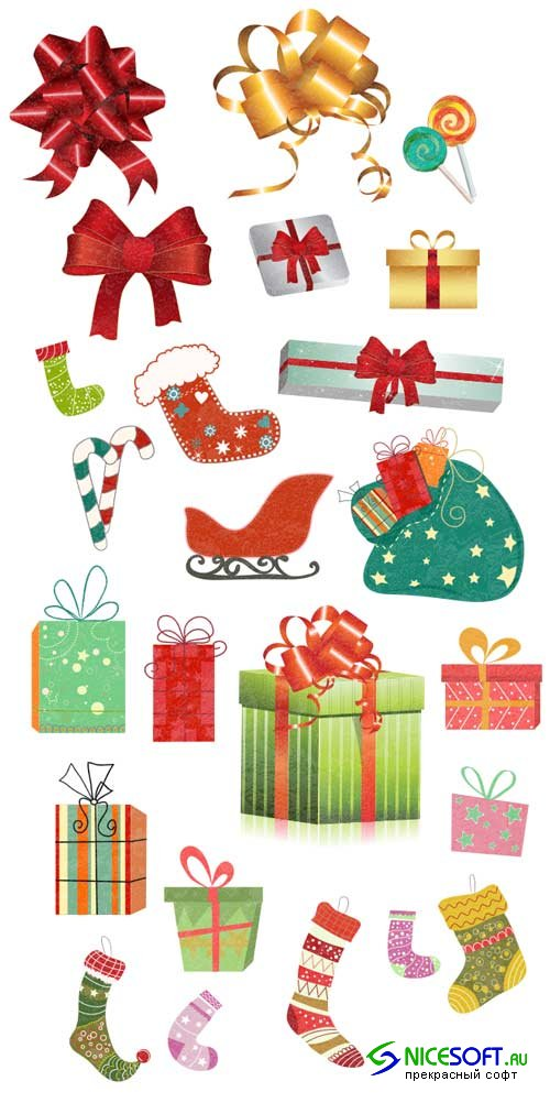 Christmas Vector Ornaments Set 1 - Stock Vector