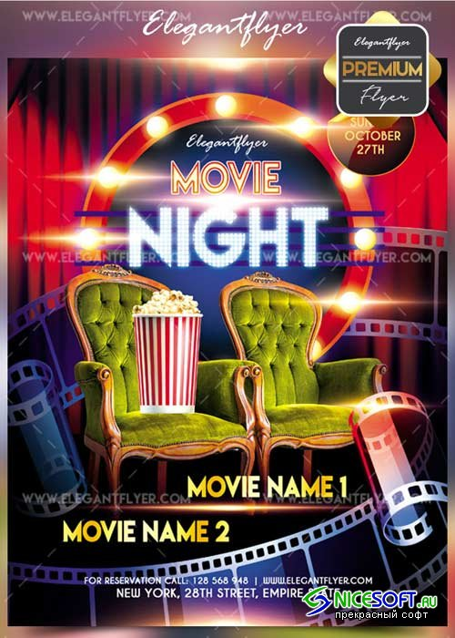 Movie Flyer 2017 V4 2017 Flyer PSD Template + Facebook Cover