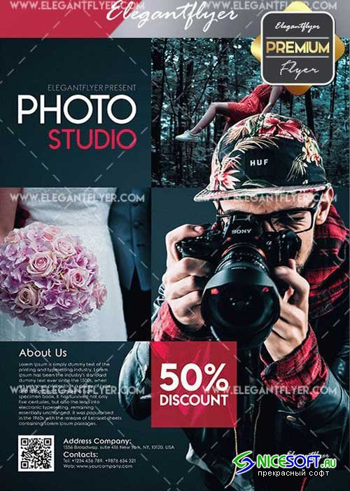 Photo Studio V14 Flyer PSD Template + Facebook Cover