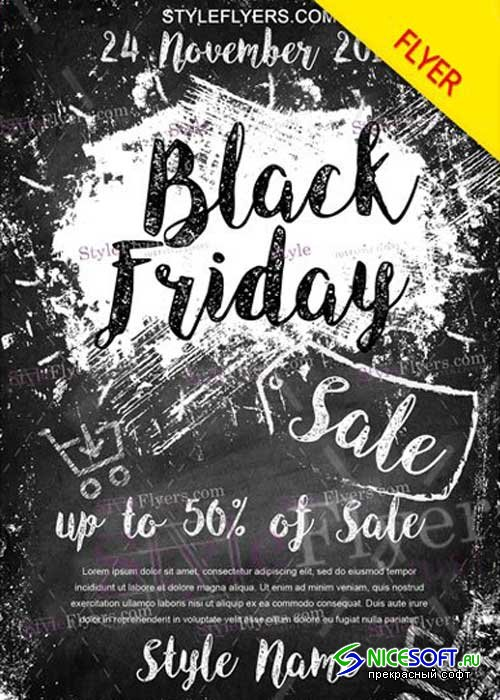Black Friday V25 PSD Flyer