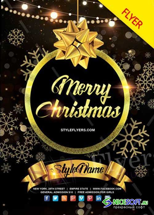 Christmas V4 PSD Flyer Template
