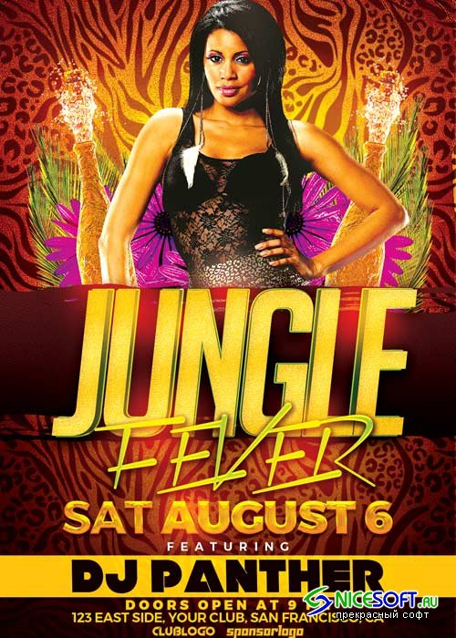 Jungle Fever Party V1 2018 Flyer Template
