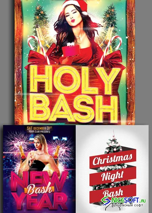 Christmas Flyer 3in1 V3 2017 Template