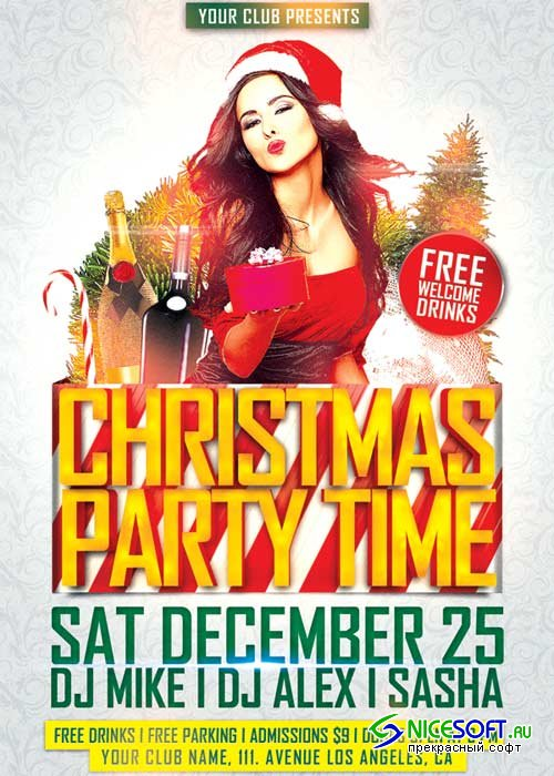 Christmas Party Time V6 2018 Flyer Template