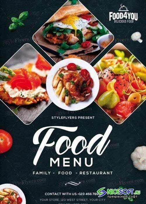 Food Menu V15 PSD Flyer Template