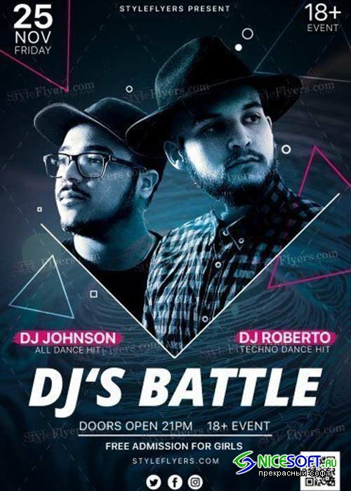 Dj's Battle V28 PSD Flyer Template
