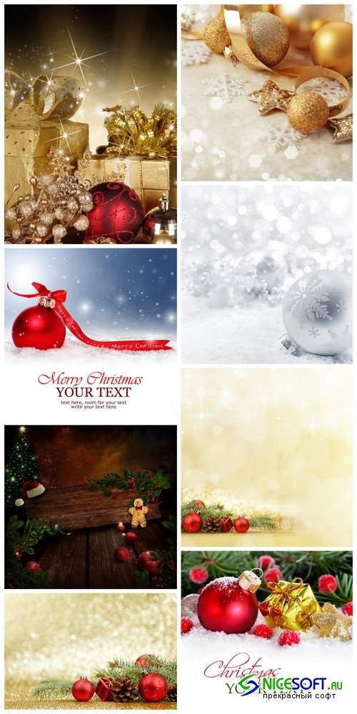 Christmas backgrounds 2 - 8 UHQ JPEG