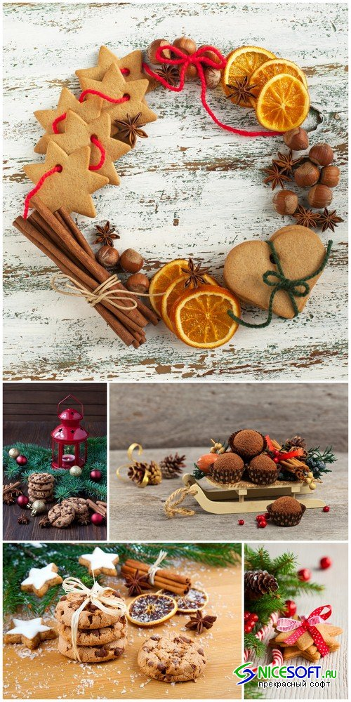 Christmas composition from sweets - 5 UHQ JPEG