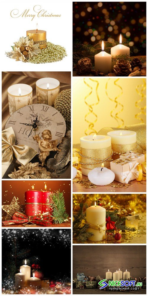 Christmas candles - 8 UHQ JPEG
